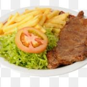 Bife com Fritas e Guaraná Natural