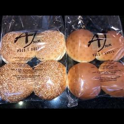 Pão de hambúrguer com 4 un