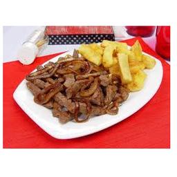 Picanha com macaxeira frita