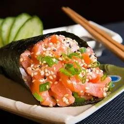 Temaki salmão tiras (1 unidade)