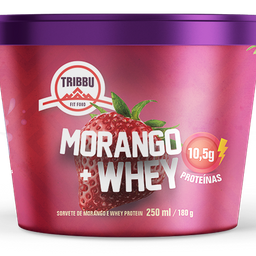 Sorvete Funcional de Morango com Whey Protein 250ml