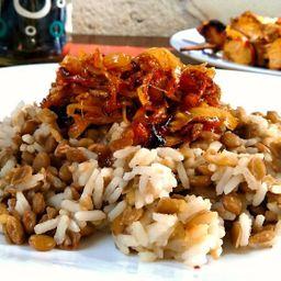 Mjadra ( arroz com lentilhas )