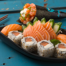 Combo Temaki com Mix Sashimi e Sushi