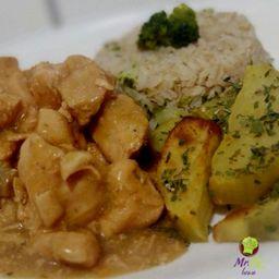 Strogonoff de Frango+arroz, Batata Sauté