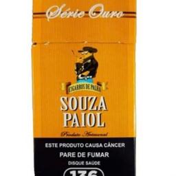Cigarro de Palha Souza Paiol Gold Premium Maço C/20u