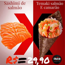 Combo Sashimi de Salmão e Temaki