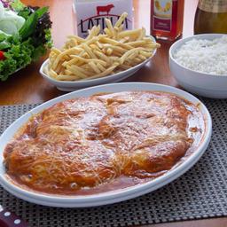 Filet Á Parmegiana de Tilápia.