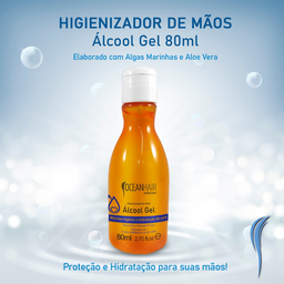 Álcool Gel Ocean Hair 80ml