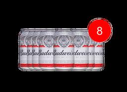 8 Und. Cerveja Budweiser 350 mL Lata
