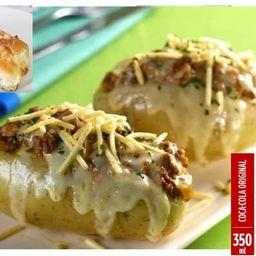 Combo de Batata Carne Moída e Pão de Alho