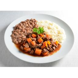 Picadinho de Carne com Arroz e Feijão - 400g