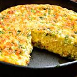Omelete vegetariano + legumes