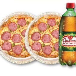 2 pizzas premium 65 + refri 1l