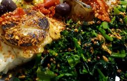 Bacalhau ao Alho e Brócolis
