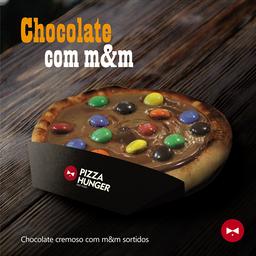 Pizza de Chocolate com M&M's - Broto