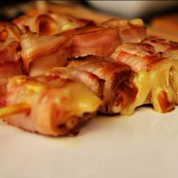 Espetinho de Provolone com Bacon