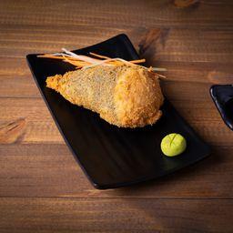 Temaki de salmão grelhado empanado