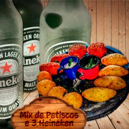 Mix de Petisco e 3 Heineken