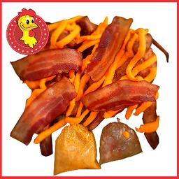 Frango na brasa com cheddar e bacon
