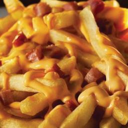 Fritas com Bacon e Queijo
