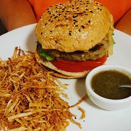 hambúrguer de tempeh