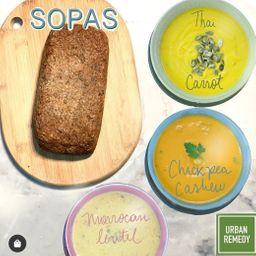 Kit 5 Sopas + Pão de Sementes