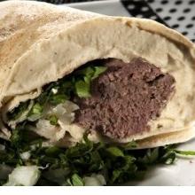 Sanduíche  kafta  assado ( kebab)