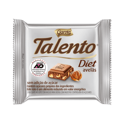 Chocolate Talento Diet Avelã - 25g