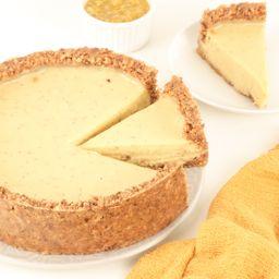 Fatia de Torta de Mousse de Maracujá