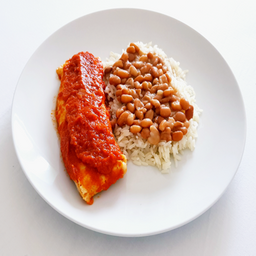 Panqueca Integral de Ragú de Carne com Arroz e Feijão - 400g