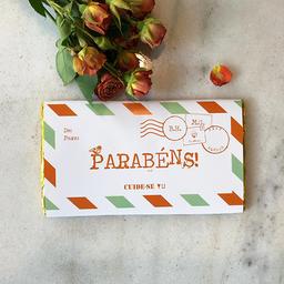 Barra de chocolate 100g - parabéns