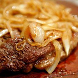 Bife de Carne Acebolada P