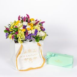 Tetê Castanha Flowers Bag Especial Dia das Mães