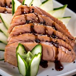 Sashimi de Salmão Maçaricado - 10 Fatias
