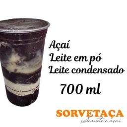 Açaí copo 700ml com chocolate
