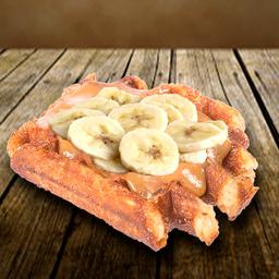 Waffle Doce de Leite com Bananas
