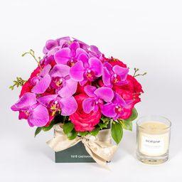Tetê Castanha Arranjo Sparkling Roses Home