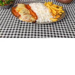 File de frango á parmegiana