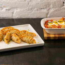 P07. Cheese Topoki e Mandu Frito - 8 Unidades