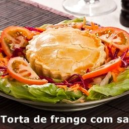 Torta com Salada