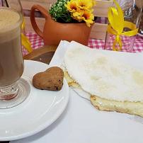 Tapioca de queijo + cappuccino 120g