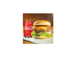 Combo monstro burger e coca-cola 350ml
