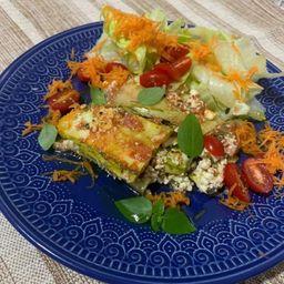 Lasagna de Abobrinha & Saladinha Verde
