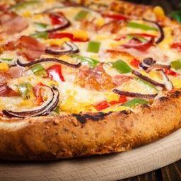 Pizza de Bacon com Milho