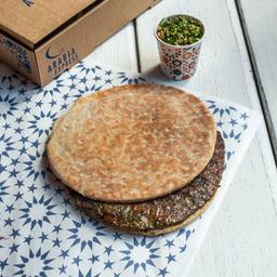 Sanduiche de Kafta com Tabule