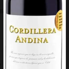 Vinho Tinto Cordillera Andina Syrah 750ml