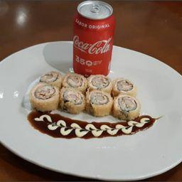 Combo coca hot 1  ( 8 unidade de hot hool + 1 coca lata )