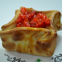 Empanada Presunto e Pimentão Vermelho