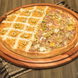 Pizza família 2 sabores