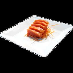 Sashimi de salmão defumado